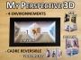 Cadre 3D - 3 ambiances - Personnalisable
